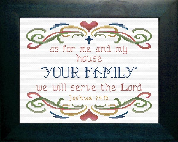 As For Me And My House Joshua 2415 Cross Stitch 8 X 10