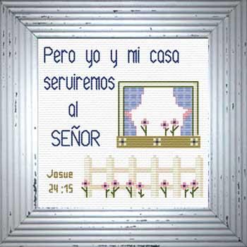 Casa Serviremos Josue 24 15 Spanish Cross Stitch Design