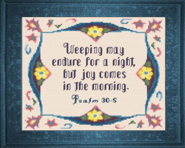 Joy in the morning psalm 30 5b