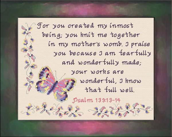 Wonderfully Made - Psalm 139:13-14
