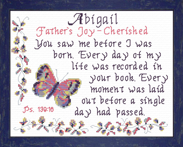 Name Blessings - Abigail 5 - Personalized Names with ...