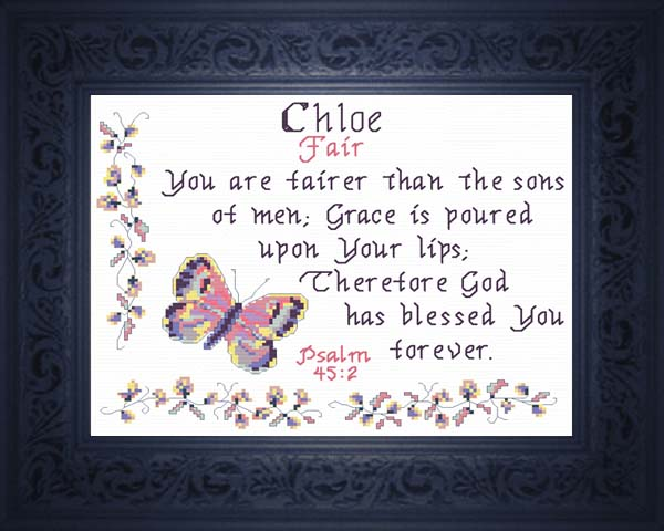 Name Blessings - Chloe - Personalized Names with Meanings ...
