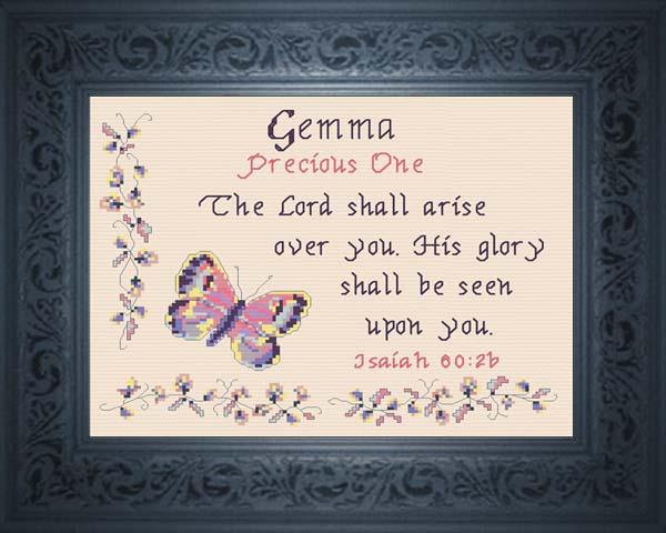 name blessings - gemma