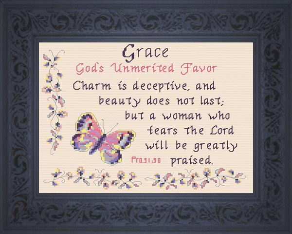 Grace - Name Blessings Personalized Cross Stitch Design from Joyful  Expressions