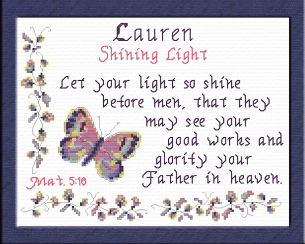 Lauren 3 Name Blessings Personalized Names With Meanings