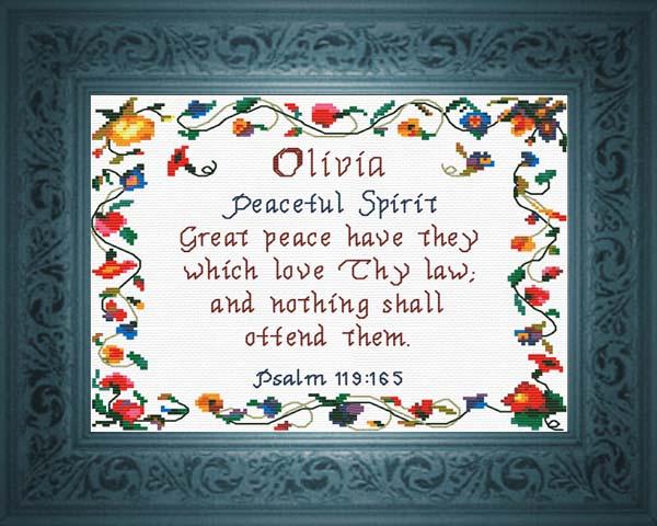 Olivia name meaning biblical