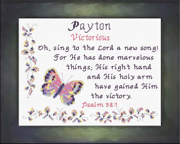 Name Blessings - Payton - Personalized Names with Meanings ...