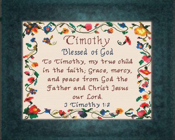 Name Blessings - Timothy - Personalized Names with